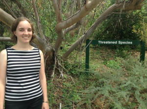The aim of Lottie Boardman's project was to assess the representativeness of the collection of threatened plant species held at the Australian National Botanic Gardens.