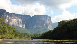 The Tepui shrublands of Southern Venezuela occur on tepui summits, pictured here, and are characterised by a high degree of plant endemism. They were assessed as Least Concern under the IUCN Red List criteria, however long term threats include damage from tourism and climate change. (Photo by Tracey Regan)