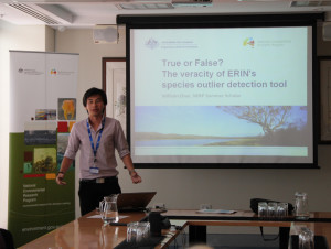 William Chan presents his findings back to Department of the Environment