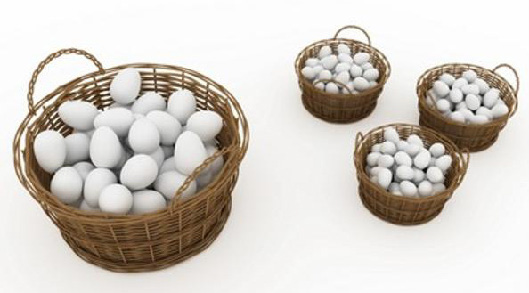 Is it better to put all your eggs into one (or a few) basket(s) (invest all your resources on a few species with high persistence targets) or spread them out over many baskets (invest in more species at lower persistence targets)? (Image from www.forbes.com)