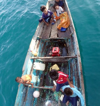 Collaboration in the Coral Triangle isn't just about maximising conservation benefits, it's also about securing fishery resources for people and village livelihoods. (Photo by Maria Beger)