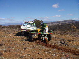 It's one thing to know the cost of a restoration activity (such as direct seed drilling as pictured here), but to ensure the best outcomes of ecological restoration it's critical to incorporate the full range of social, ecological and economic benefits into your planning.  (Photo courtesy of Greening Australia)