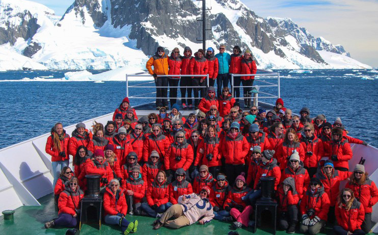 The women of Homeward Bound on route to Antarctica.