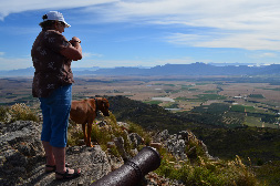 BSP landowner surveying their privately protected area near Paarl, South Africa. (Photo by Matthew Selinske)