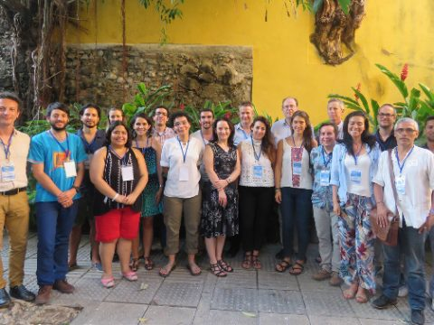 Participants in the 'Conservation challenges and opportunities in areas of armed conflict' workshop. (Photo by Felipe Suarez)