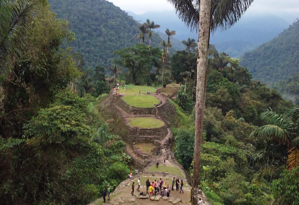 Equity is an important consideration surrounding decisions relating to ecotourism. Tourism can bring in an alternative source of income, but large numbers of tourists can degrade an area. Who should get to decide if and how much tourism should be allowed? Pictured above is the LA Ciudad Perdida (the lost city) in Colombia. It's an example of ecotourism which tries to incorporate ethics into its practice by employing local guides and providing money to local indigenous groups. (Photo by Elizabeth Law)