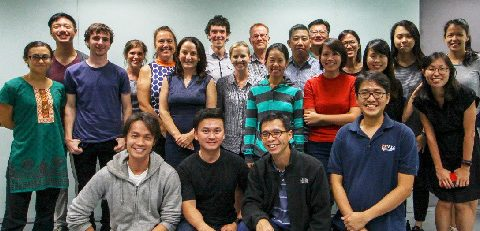UQ and NUS researchers come together for the workshop group pic.