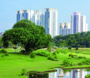 Bishan Park, a great example of innovative urban planning in Singapore in which green spaces are brought right into the city. (Photo by National Parks Board, Singapore