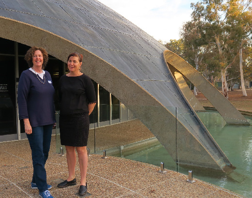 The 2018 Boden Conference on ecosystem collapse was run at the Shine Dome in Canberra in May. It was organized by Dana Bergstrom (on the left) and Justine Shaw.