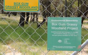 Signage on the fence surrounding an ESP site. (Photo by David Salt)